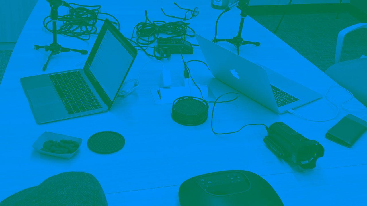 Podcasting Equipment on a Table